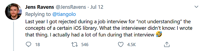 ios library writer got rejected during job interview