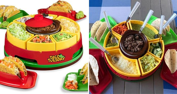 lazy susan taco bar