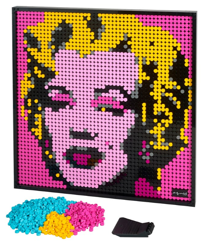 lego posters andy warhol marilyn monroe portrait