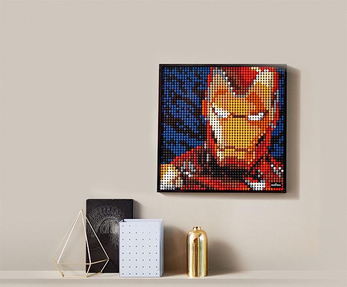 lego posters iron man