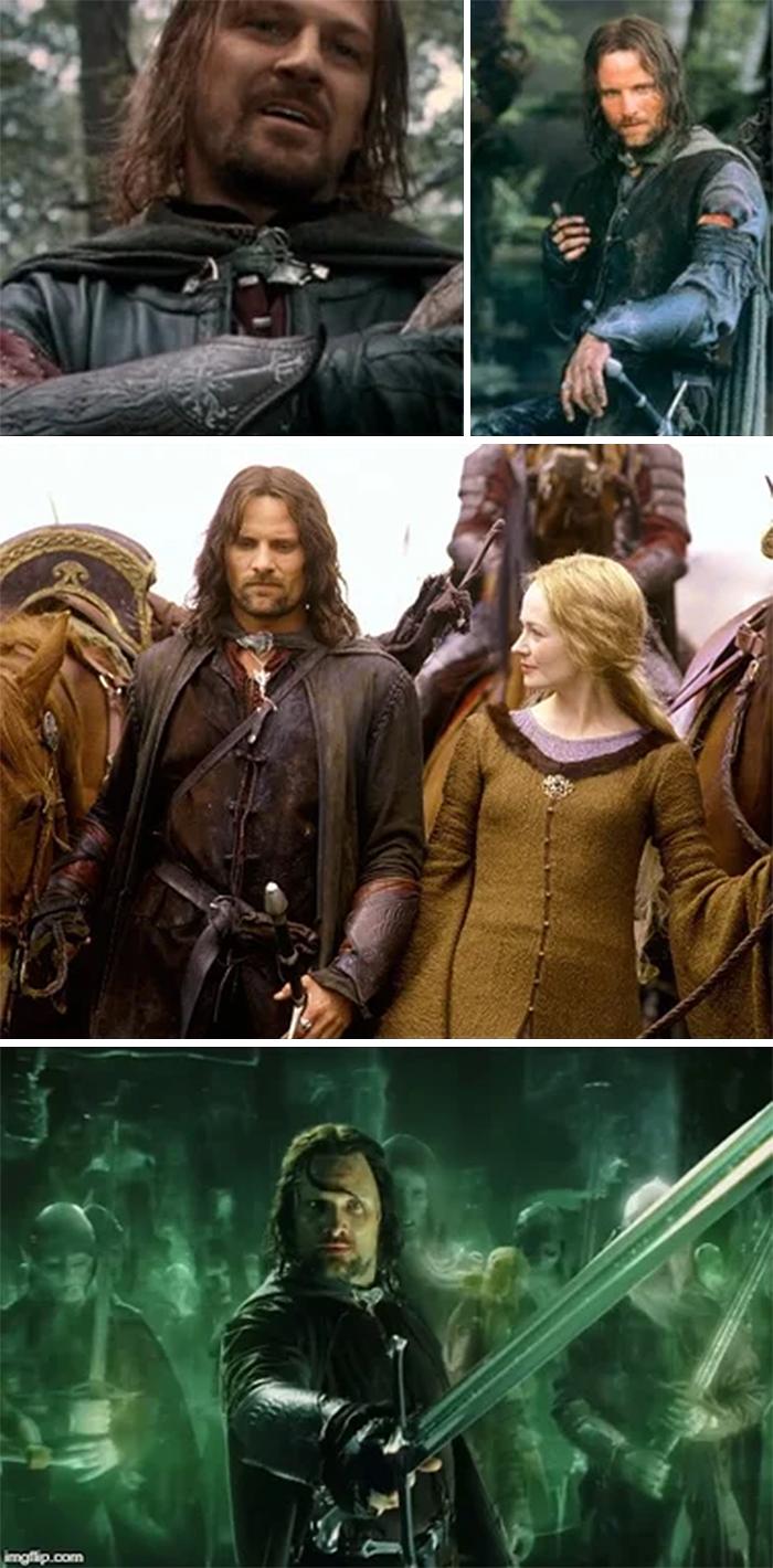 lord of the rings aragorn wears boromir bracers
