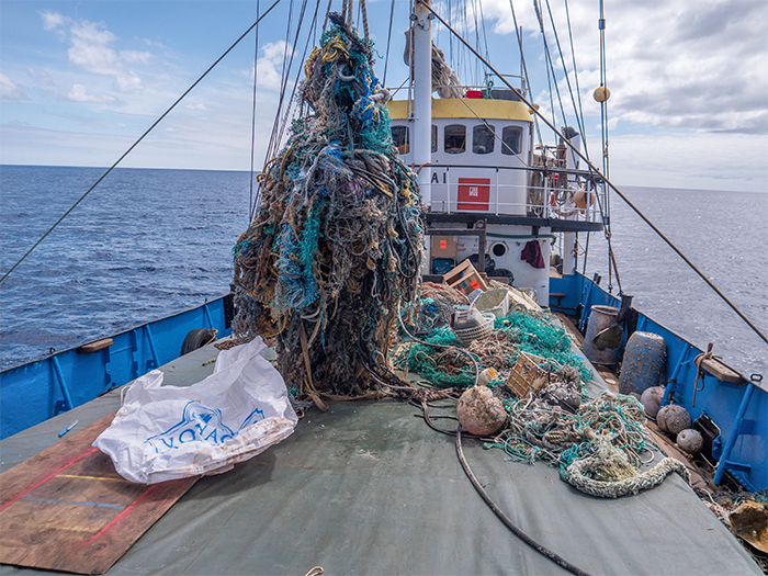 marine plastic recovery vessel pacific trash vortex