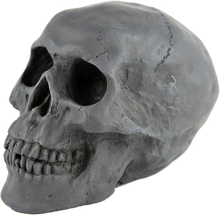 mini size black fireproof skull