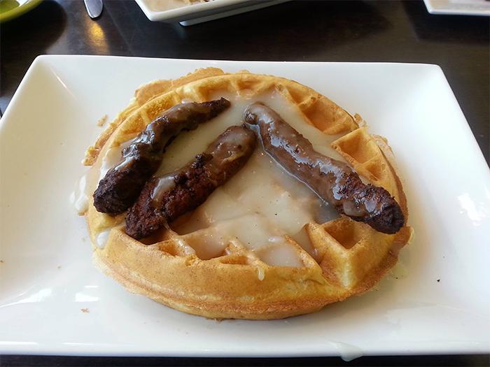 misunderstood order chicken and waffles