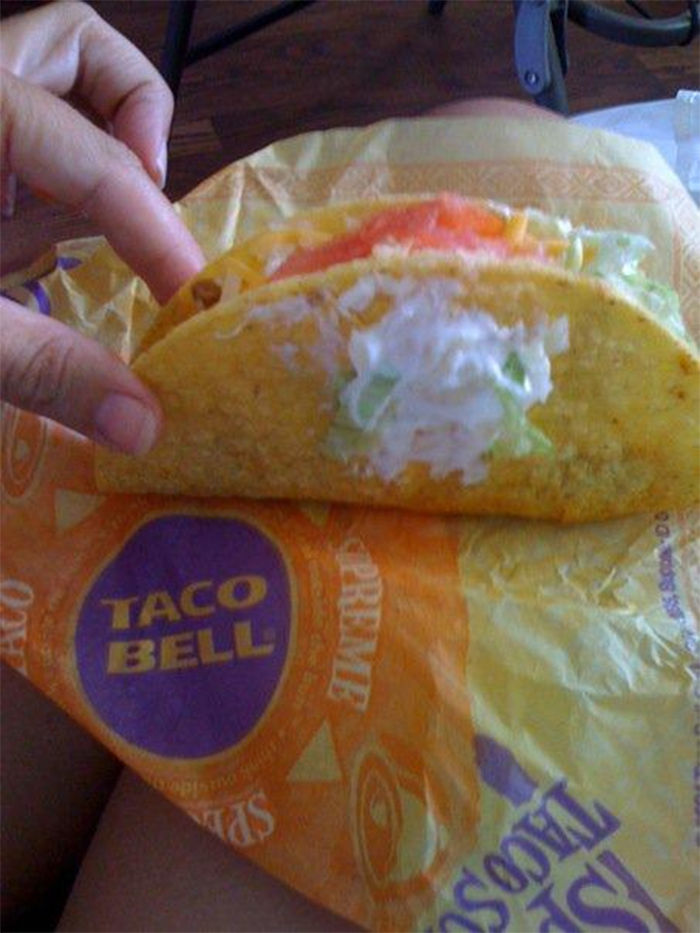 misunderstood order taco sour cream on the side