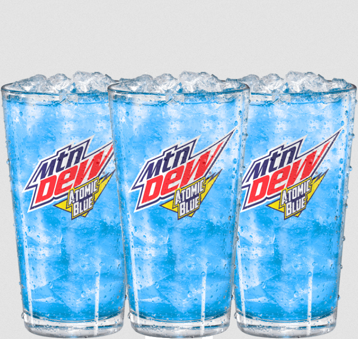 mountain dew atomic blue flavor