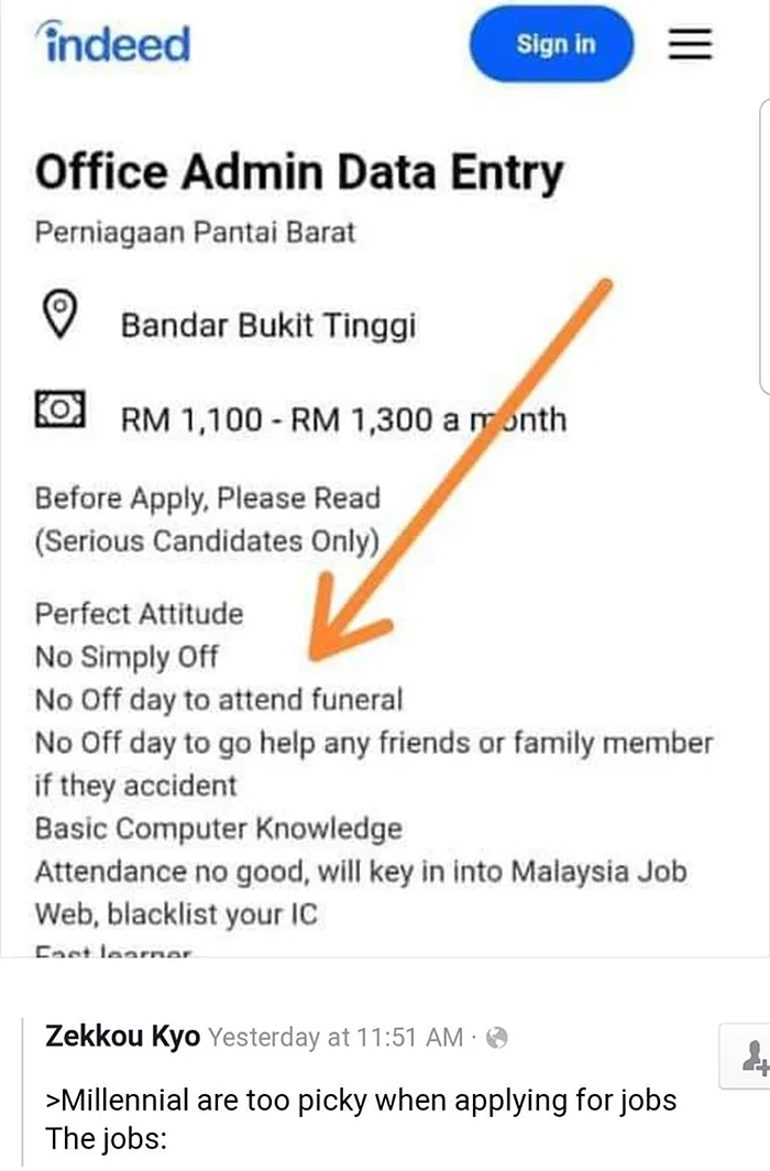 no day off to attend funeral applying for a job