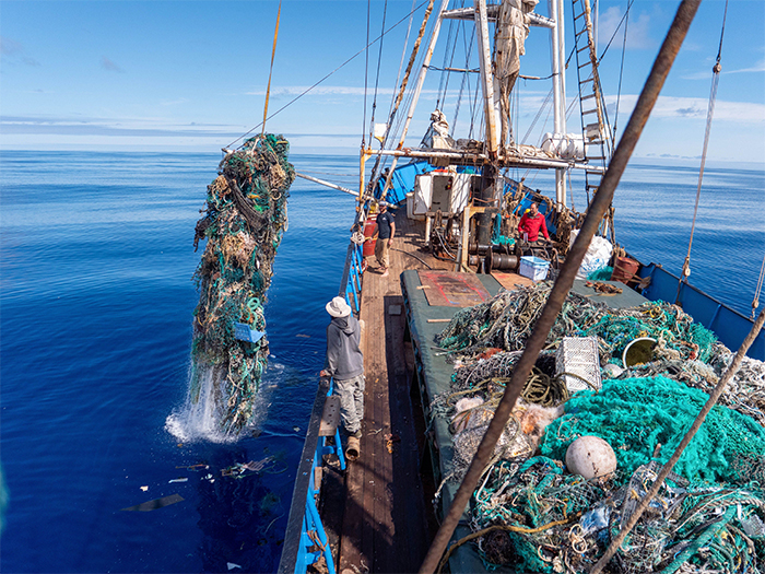 ocean plastic hauled from the pacific garbage patch