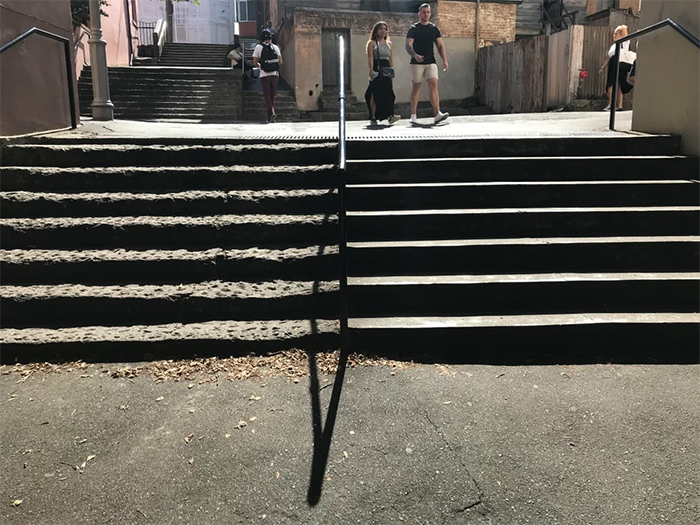 old stairs vs newly built stairs