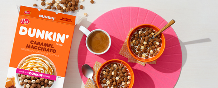 post dunkin' coffee-flavored cereal