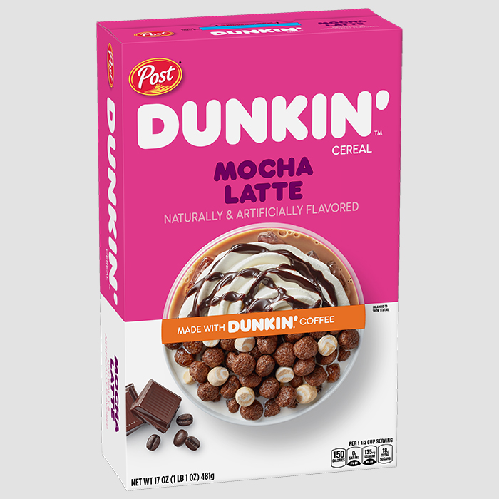 post dunkin' mocha latte cereal