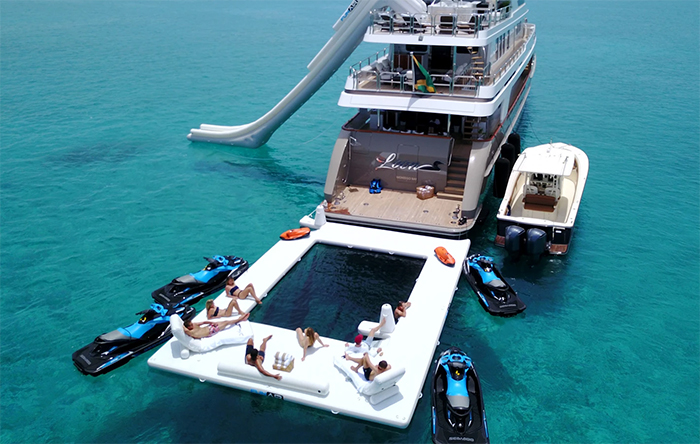 sea pool attached to a yacht