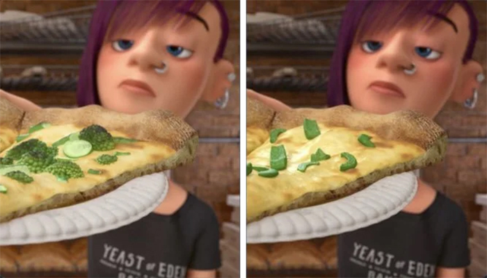 surprising movie details inside out pizza toppings changed
