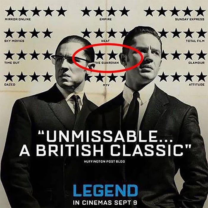 surprising movie details legend poster mocked negative review