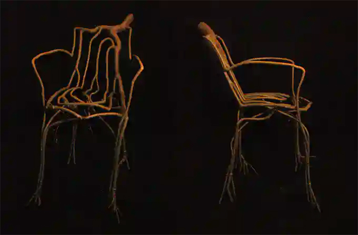 tree furniture willow chair prototype