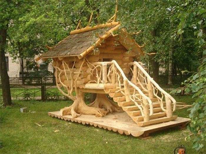 unique poultry houses tree house