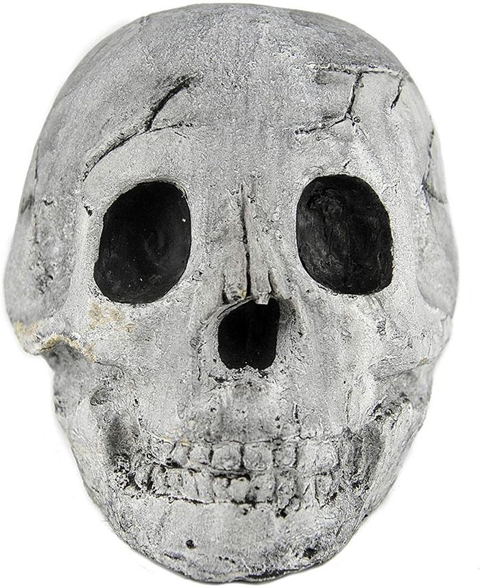 white fireproof skull front face