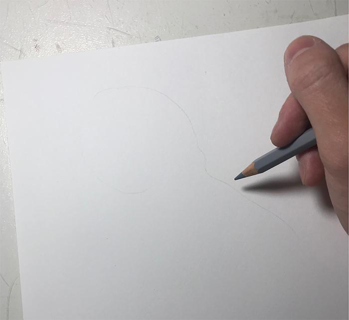 yuki tokuda colored pencil outline