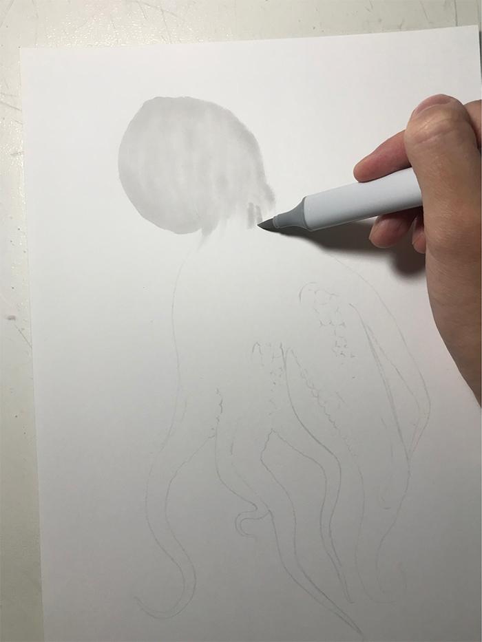 yuki tokuda copic marker fill