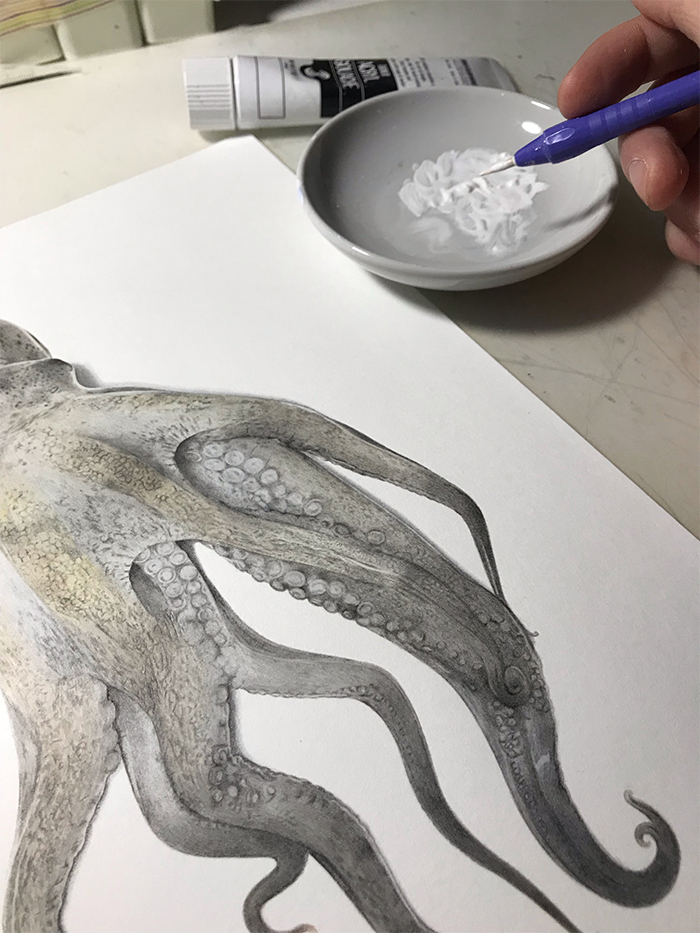 yuki tokuda white acrylic paint