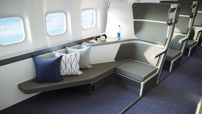 zephyr aerospace lie-flat seats for economy class travelers