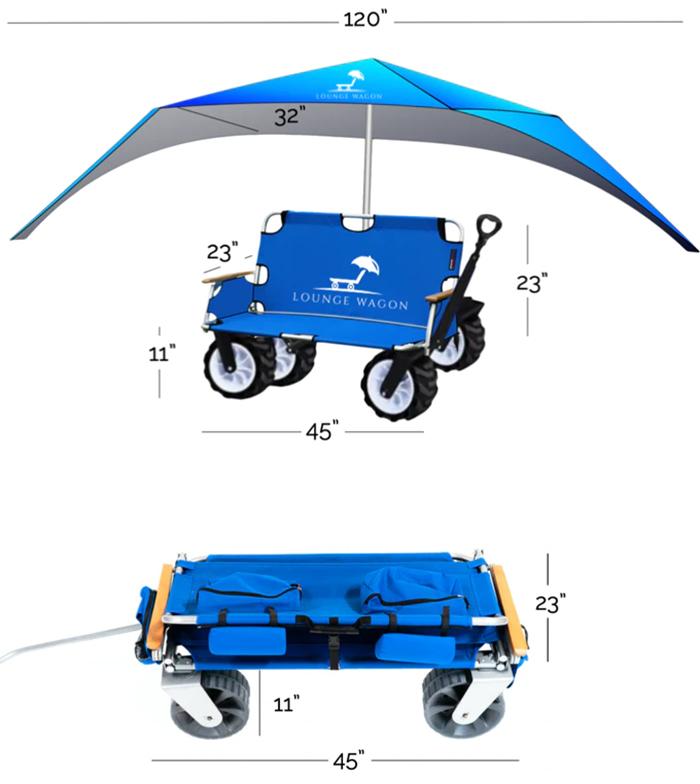 3-in-1 beach wagon dimension