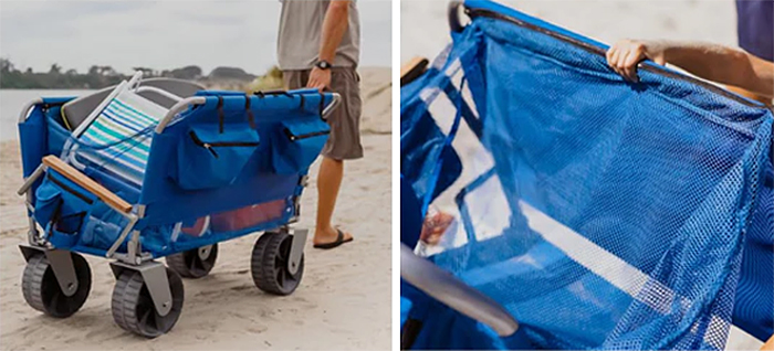 3-in-1 beach wagon removable netting system
