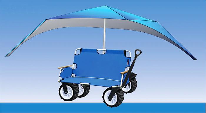 3-in-1 beach wagon with umbrella