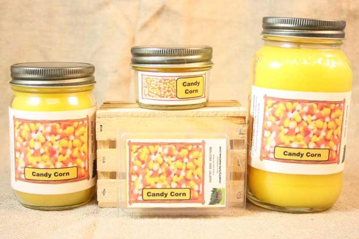 Candy Corn Candle Set