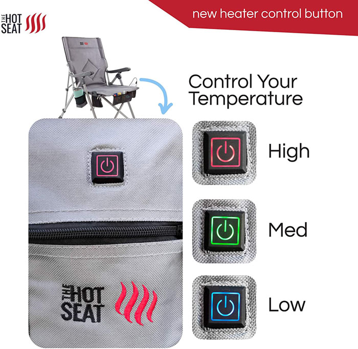 Heated Camping Chair heat level control