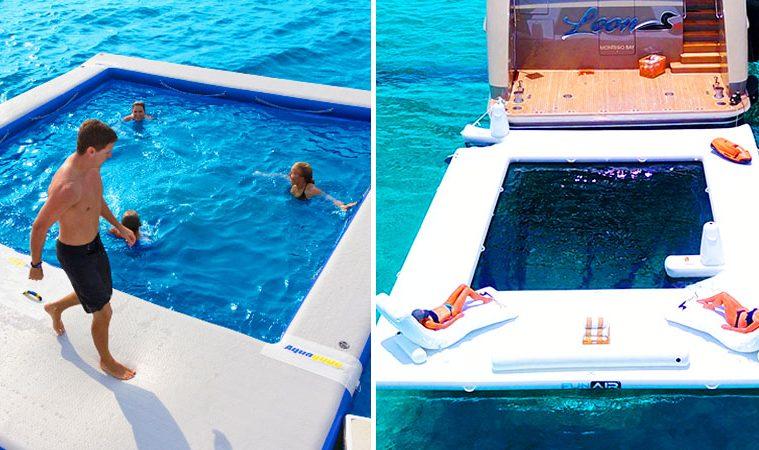 Inflatable ocean pools