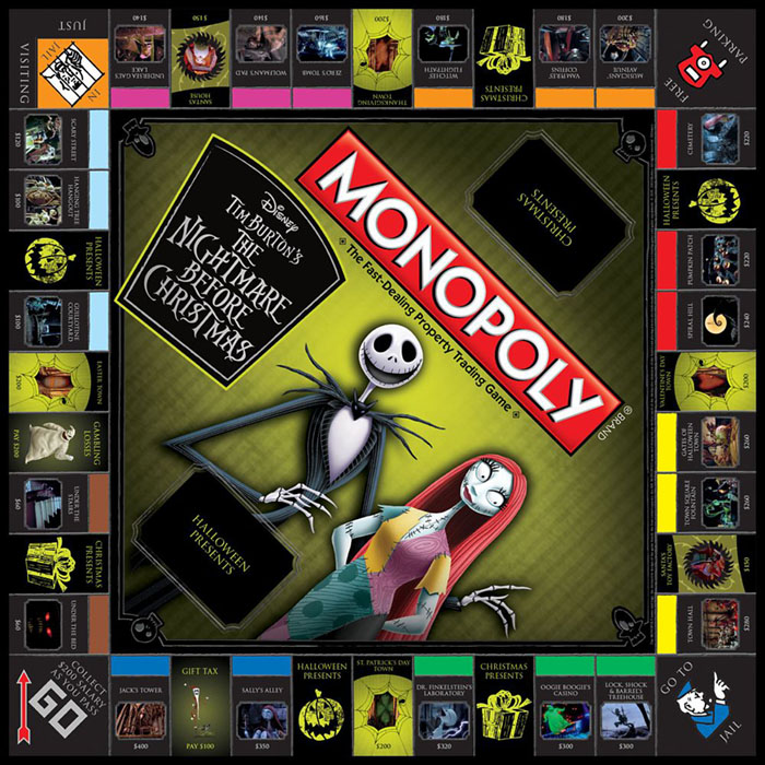 Nightmare Before Christmas Monopoly Board