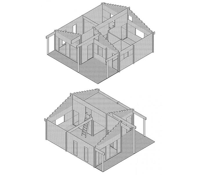 allwood cabin kit 3d model