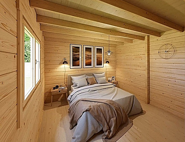 allwood diy house kit bedroom