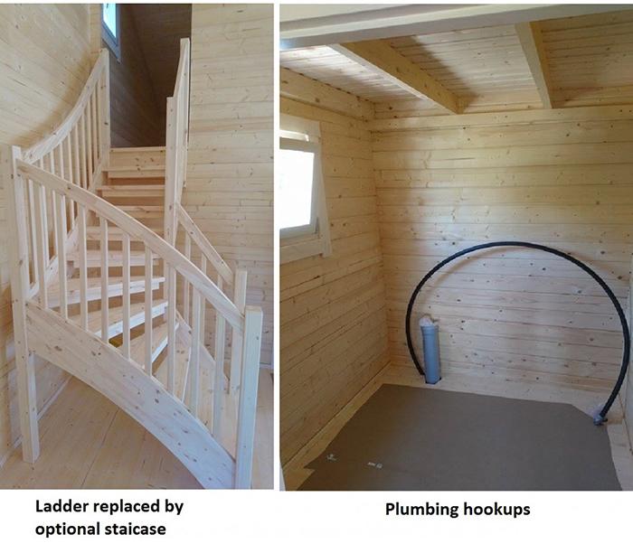 allwood diy house kit optional staircase and plumbing hookups