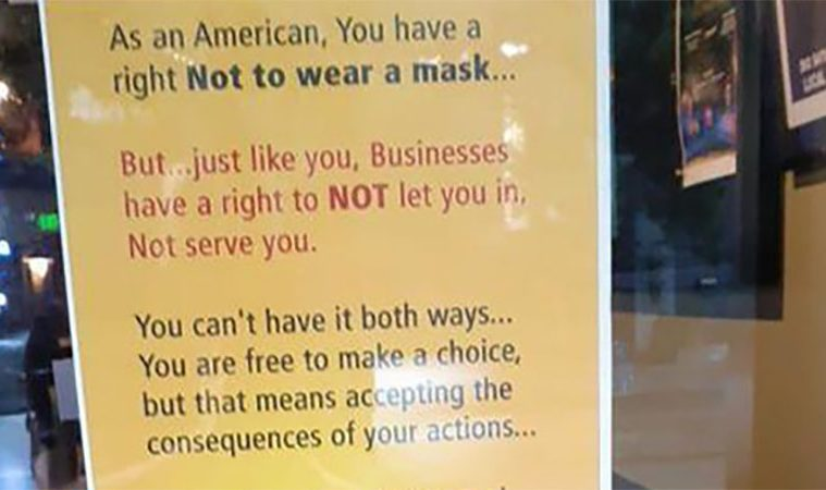 anti-face maskers poster