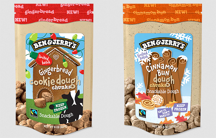 ben & jerry's snackable cookie dough chunks
