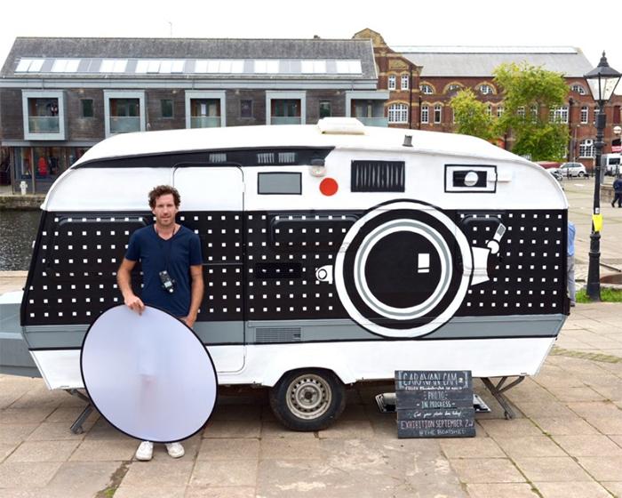 brendan barry giant camera on wheels