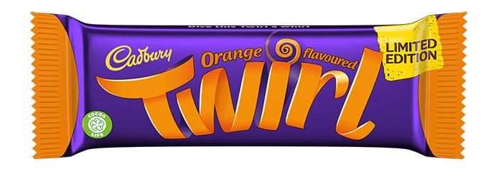 cadbury orange twirl