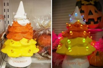 candy corn ceramic tree