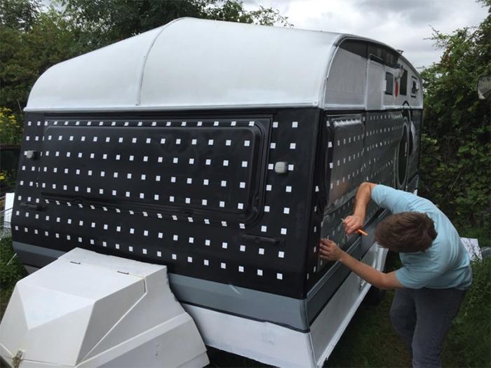 caravan camera repainted