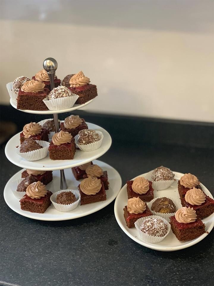 care home head chef dishes high tea cakes