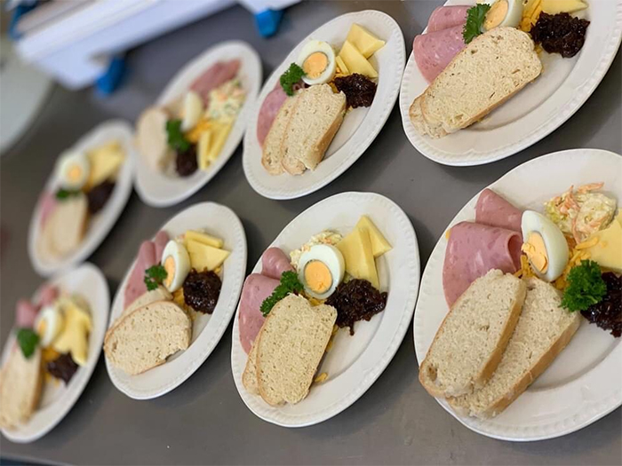 care home head chef dishes ploughmans platter
