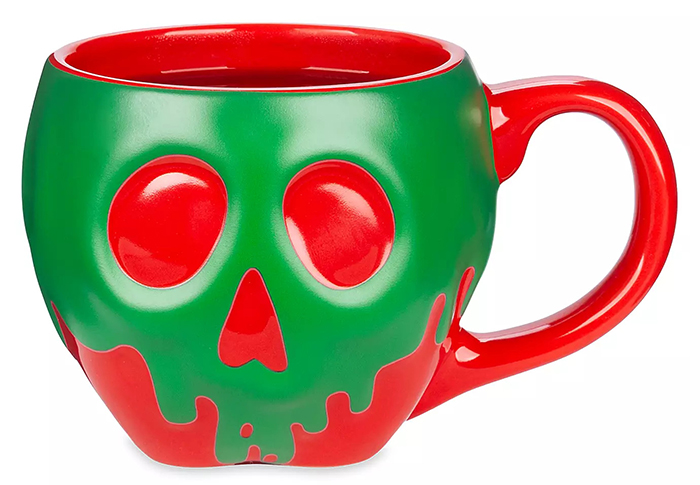 color changing poisoned apple mug front with hot water