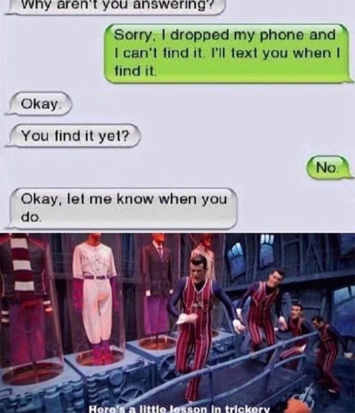 dumb people missing phone