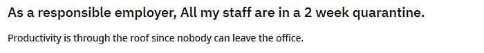 employees office quarantine