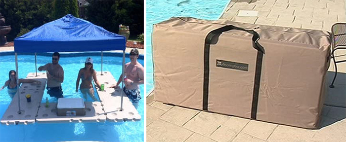 floating bar with carrying case