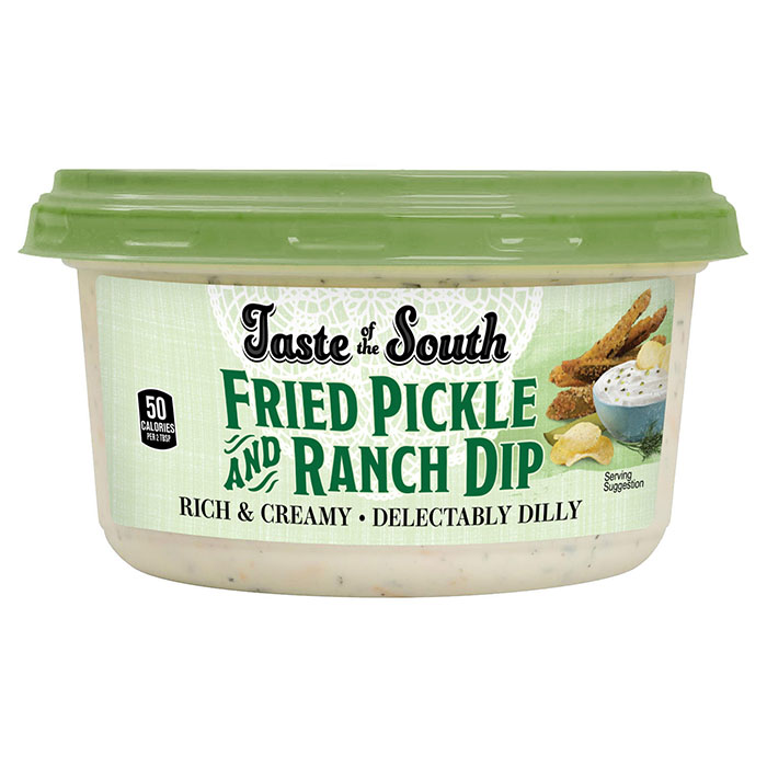 fried pickle and ranch dip