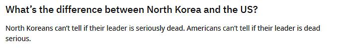 funny jokes north korea vs usa