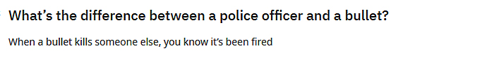 funny jokes police officer vs bullet